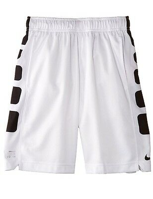 Youth Boys (8-20) Nike Elite Shorts Dri Fit White/black Multi Sizes 546649-101
