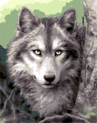 Grafitec Printed Tapestry/Needlepoint Canvas – Grey Wolf