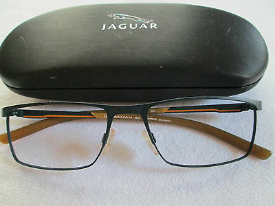 Jaguar Menrad black / orange glasses frames.33574. With case.