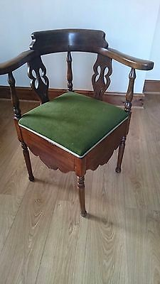 Antique Wooden Corner Chair