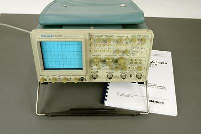 Tektronix 2465A 350 MHz 4 Channel Portable Oscilloscope TESTED w/ Manual