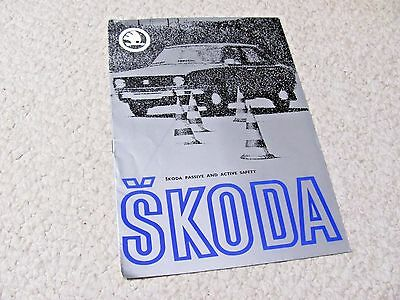 1979 Skoda Safety Sales Brochure In English..