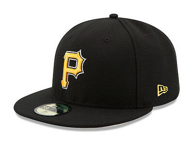 c22adf64289 New Era 59Fifty MLB Cap Pittsburgh Pirates 2017 Alt On Field Fitted Hat -  Black