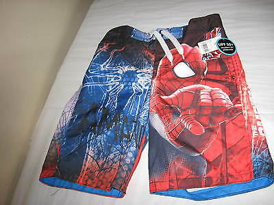 NWT Boys Spider-Man Swim Trunks ~ Size S