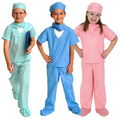 Doctor Costume for Kids Dr Scrubs Halloween Fancy Dress