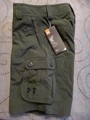 UNDER ARMOUR KHAKI BOYS CARGO SHORTS SIZE YXS XS YXL XL NWT $49.99