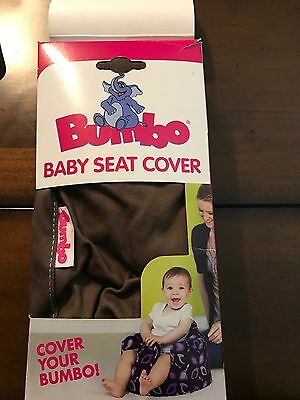 Bumbo Baby Seat Cover New Brown /Blue Stitching For The Genuine Bumbo Baby Seat