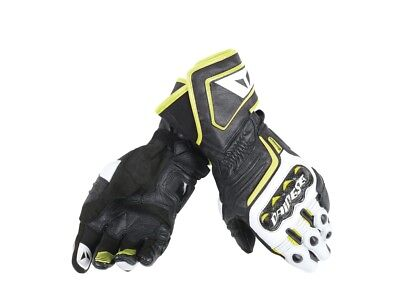Dainese Motorcycle Sports gloves D1 Long Leather New! black/white/neo L