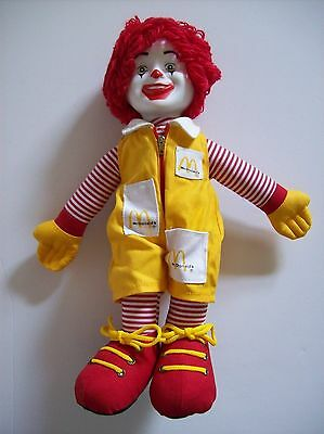 RONALD McDONALD DOLL - 15 INCHES - MINT - NEVER PLAYED WITH