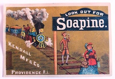 victorian trade card Advertising Soapine