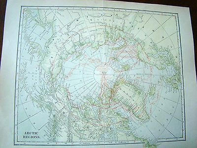 Early 1900s Dodd Meade & Co Arctic Map - North Pole