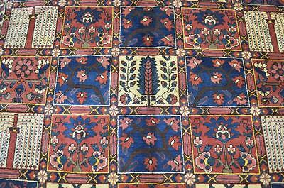 6'8x10 Fine Authentic Semi Antique Persian Bakhtiari Hand Knotted Wool Area Rug