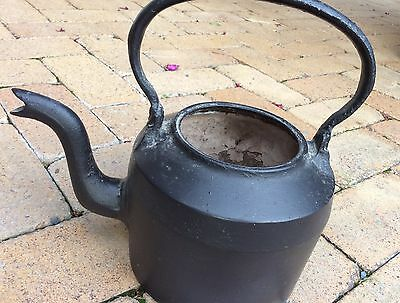 Cast Iron Vintage Kettle  - Black - Heavy - Pick Up Only