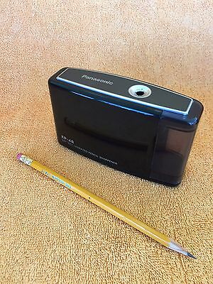Panasonic KP-4A Black Portable Pencil Sharpener Battery Operated - Tested