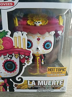 Funko Pop! Movies #94 La Muerte Glow In The Dark Hot Topic Exclusive+PROTECTOR