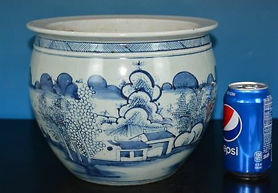 Fine Antique Chinese Blue And White Porcelain Pot Rare F0112