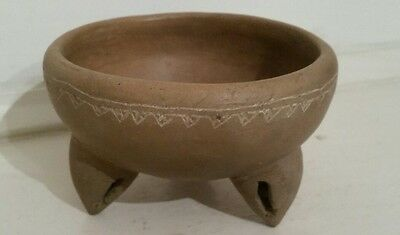 Mexican Pottery Tripod Rattle Bowl, possibly pre-columbian