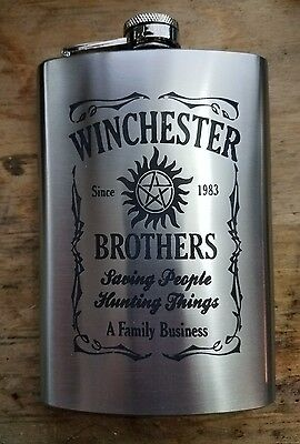 supernatural winchester bros. 8oz flask