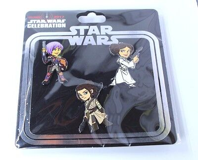 Star Wars Celebration Princess Leia Rey Sabine Wren  -NEW - Intl
