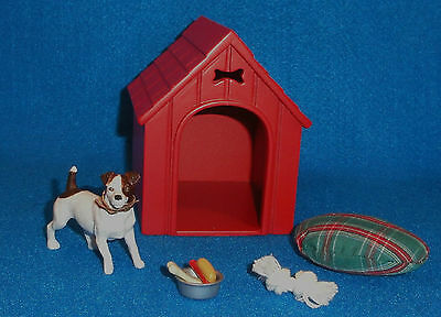 Breyer Companion Animal Dog House Gift Set 1540 Brown White Jack Russell Terrier