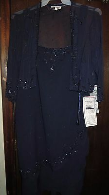 """Roamans Mother of the Bride/Cocktail Dress size 24W 43"""" long"""