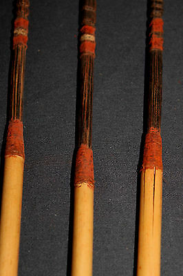 3 Fine Very Rare Biami Black Hardwood Tipped Arrows - PNG, New Guinea