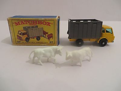 Matchbox No.37 Dodge Cattle Truck with Cows in Original E-Type Box