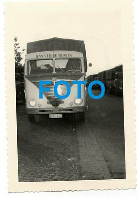 Altes Foto Fern Last LKW Büssing Spedition Liese Berlin 50er