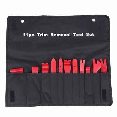 11Pc Auto Trim Door Panel Window Molding Upholstery Clip Removal Tool Set Kit