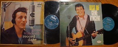 GENE VINCENT  Record Date  &  Best Of LP  -  Rare Original Aussie Pressings