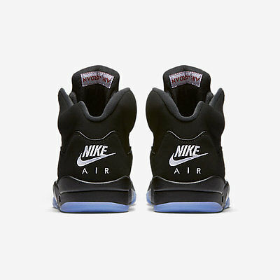 hot sale online 44874 c019e 2016 Nike Air Jordan 5 V Retro OG Black Metallic Silver Size 14. 845035-