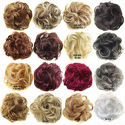Authentic Natural Look Elasticated Scrunchie Bun Hairpiece/ Hair Extension