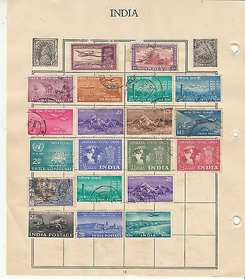 INDIA Nice LOT!!! MINT And Used Collection on Album Page REMOVED FOR SHIPPING