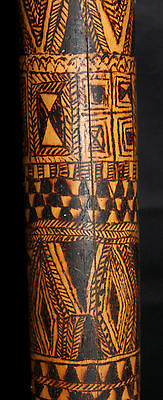 Rare, Old, Beautifully Incised Bamboo Lime Container, Korowai Tribe, New Guinea