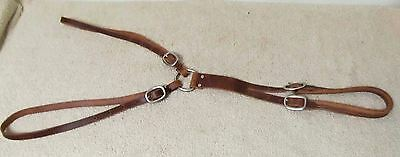 USA Made Medium Oil Leather Adjustable Tail Crupper Saddle Harness Horse Size