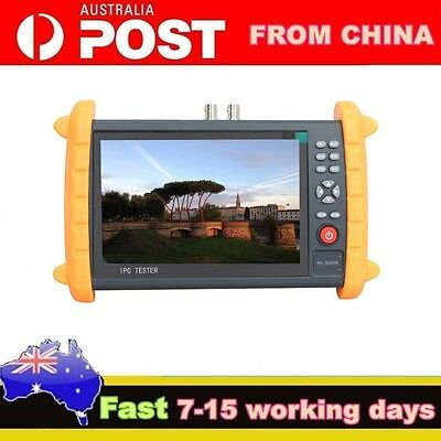 "IPC-9600 7""Capacitive Touch Screen POE ONVIF IP&Analogy Cam CCTV Tester AU POST"