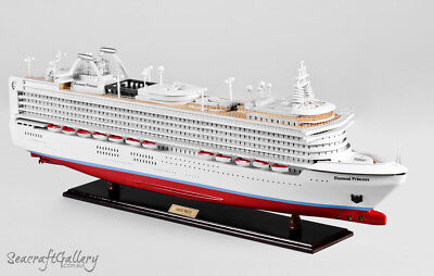 DIAMOND PRINCESS HANDMADE WOODEN COMPLETED SCALE MODEL BOAT SHIP GREAT GIFT 80cm