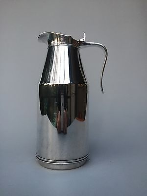 """Mid Century Modern """"Standard"""" Pitcher with Hinged Lid - Silverplate"""
