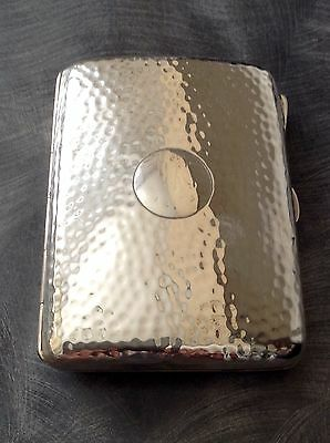 Lovely Solid Silver Arts & Crafts Cigarette Case Birmingham 1905