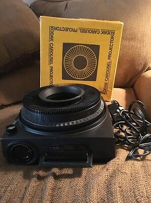 Kodak 750H Carousel Slide Projector w Tray/Remote/Box