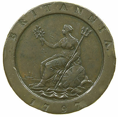 Great Britain, George Iii Cartwheel Twopence, 1797