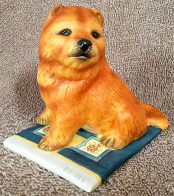 World Of Puppies Porcelain Sculptures  - Chow Chow  - Lot TWOPB