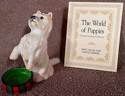 World Of Puppies Porcelain Sculptures - West Highland White Terrier - Lot TWOPB