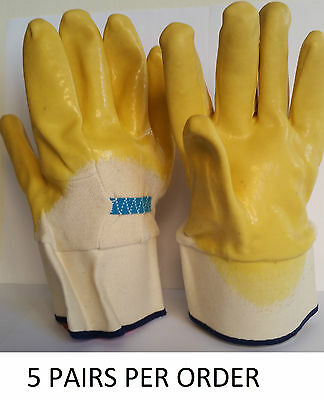 Latoplast Traditional Yellow Glass Handling Gloves W/ Cuff (Package of 5 Pairs)