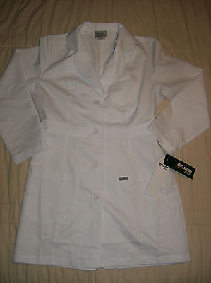 Grey's Anatomy By Barco White 34in 3 Pocket Lab Coat Size M New With Tag