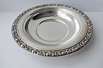 """Antique Sterling Silver Nut Candy Bowl Dish, 6"""""""