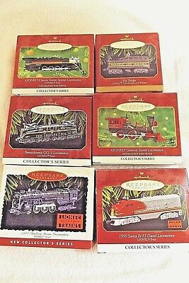 Lionel Train Ornaments / Lot of 6 Hallmark Keepsake Collector's Series All New