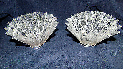 2 Antique Gas Light Shade Acid Etched Victorian Sconce Fixture Chandelier