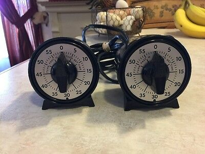 2 Vintage Darkroom Timer 60 Minute M.H. Rhodes Photo Film Developing Clock 78100
