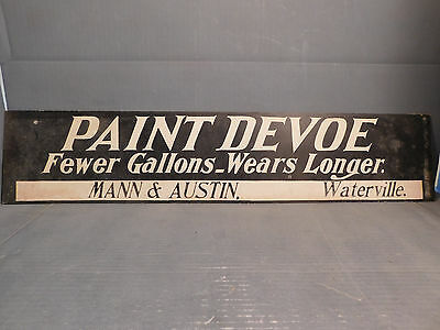 Early Devoe Paint Sign - Waterville VT